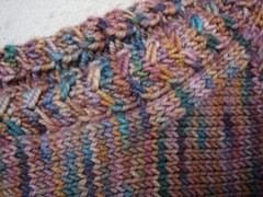 cable detail, Denmark socks