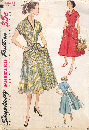 Vintage Wrap-Dress Pattern, 1952