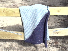 Blue Diagonal Blanket