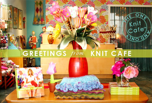 Book of the Week: Greetings from Knit Caf? (also a store in LA + June 7 event!)