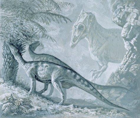 hadrosaurs & T. rex
