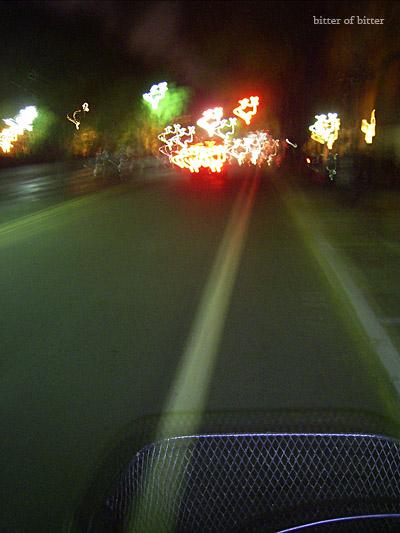 夜裡騎著淑女車