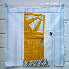 Mid century Modern door quilt block for Lisa photo by verykerryberry