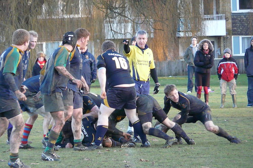 Captain Charlie Davis had to move to scrum half when Neil Cunningham tore a hamstring