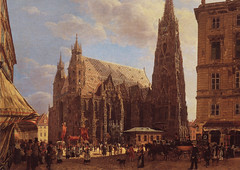 Rudolf van Alt - View of Stephansdom, from the Stock-im-Eisen at Belvedere Museum Vienna Austria photo by mbell1975