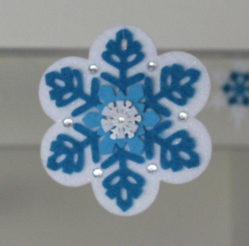 felt flower flake ornament