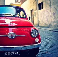 Little Red Fiat photo by Violet Kashi