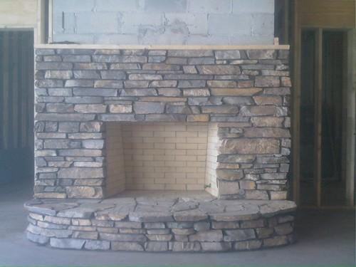 Salin basement fireplace