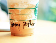One Toffee Nut Frappuccino for Harry Potter! photo by phoebercat