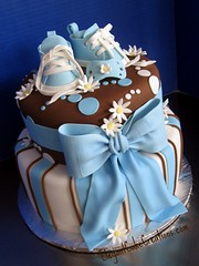 Baby Boy Shower Cake photo by Elegant Cake Creations AZ