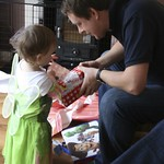 Uncle Andy helps Amy 'Tinker Bell' open her present<br/>22 Jan 2011