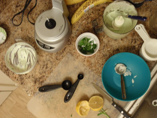 Making Green Goddess Dressing