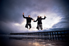 White Man (and woman) Can Jump photo by Extra Medium