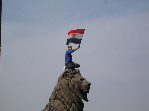 The lion of Egyptian revolution