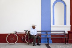 The old man and the bicycle - Santa María del Tule, Oaxaca, Mexico photo by Pipall