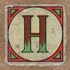 Vintage brick letter H