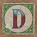 Vintage brick letter D