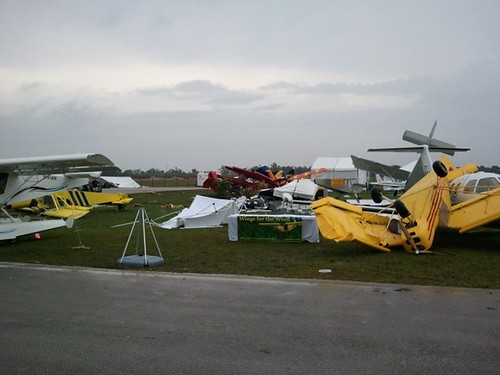 Damage at 2011 Sun-n-Fun following the heavy storms