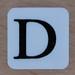 Tile Letter D