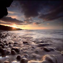 Sunset Clashach Cove photo by angus clyne