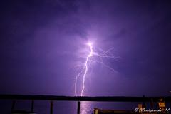 Lightning over Shady River Marina photo by Steve Maciejewski