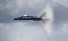F/A-18C Hornet breaks the sound barrier photo by Official U.S. Navy Imagery