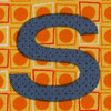 Fabric letter S