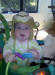 Jacqueline in her MailChimp Hat