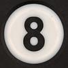 8 Ball keyring