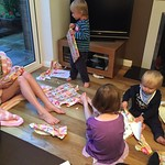 James opening his birthday presents<br/>24 Jul 2015