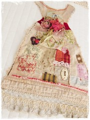 tasha tudor's sunday's best dress mixed media fabric photo by peregrine blue