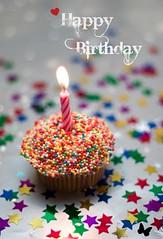 Birthday cupcake ~ photo by t҉o҉s҉h҉i҉b҉a
