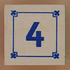 Block Lowercase Number 4