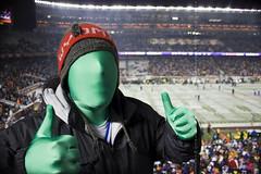 Green Man during Monday Night Football at TCF Bank Stadium photo by Icedavis