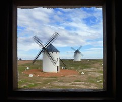 Don Quixote's Window (Windmills in La Mancha, Spain) - La Ventana de Don Quijote (Molinos de Campo de Criptana) photo by Sir Francis Canker Photography ©