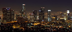 Los Angeles Skyline at Night photo by Robin Black Photography