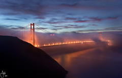 Foggy Golden Gate Bridge at Dawn - San Francisco, CA photo by JaveFoto