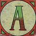 Vintage Brick Letter A