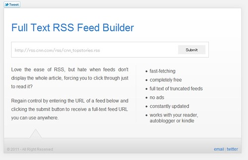Full Text RSS Feed