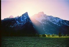 Teton Sunset II on film photo by It's my whole damn raison d'etre