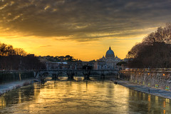 Saint Peter and Angels Bridge - Ponte Sant'Angelo, Rome - Italy (HDR) photo by luigig75