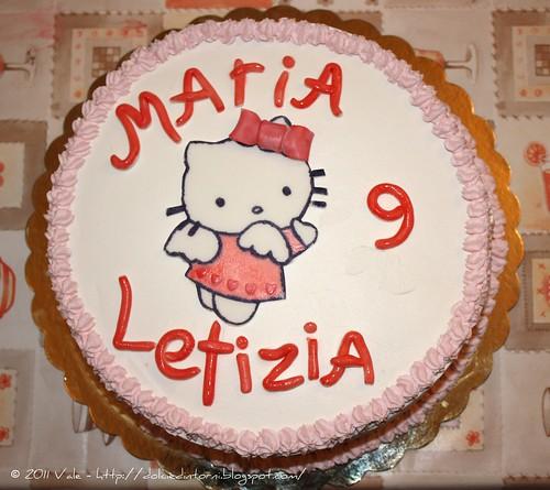 Torta 9 anni Maria Letizia