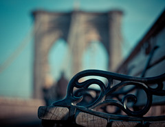 benching on brooklyn bridge (happy bench monday) photo by pamela ross
