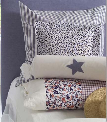Jogo de cama, composê listras, florzinha e xadrez photo by Patchwork Glória Leon