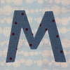 fabric letter m