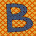 Fabric letter B