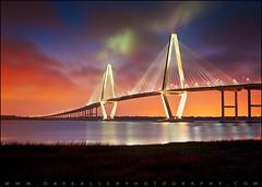 Charleston SC Arthur Ravenel Jr. Bridge Sunset photo by Dave Allen Photography