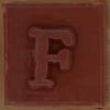 Stamp letter F