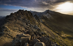 An evening on Crib Goch, Snowdonia photo by Adam BStar