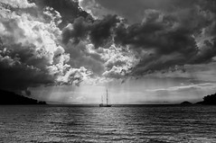 Ship at Sea, Skopelos, Greece photo by Mark Candlin